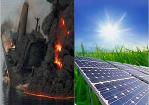 petrolio e solare fotovoltaico , i vantaggi ambientali