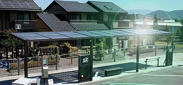 pensilina fotovoltaica su fermata autobus