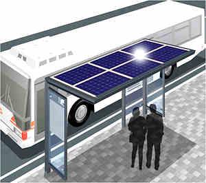 pensilina fotovoltaica fermata autobus
