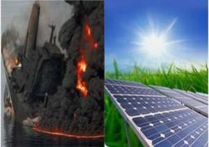 petrolio e solare fotovoltaico