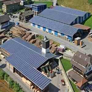impianto fotovoltaico su segheria svizzera