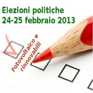 elezioni 2013 e fotovoltaico