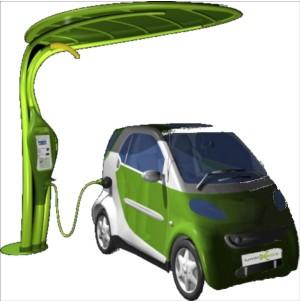 pensiline fotovoltaiche per auto elettrica