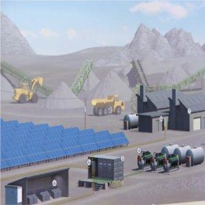 impianto ibrido fotovoltaico-diesel