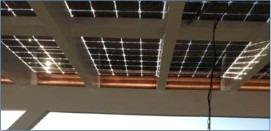 veranda fotovoltaica con moduli in vetro vetro