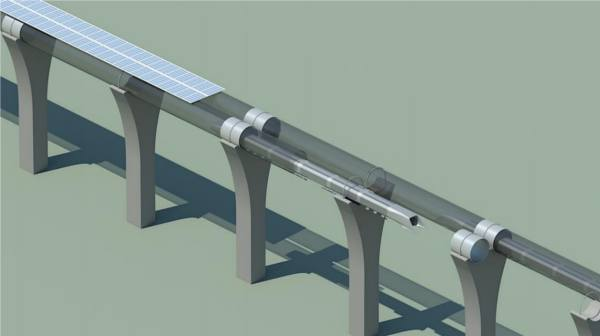 treno fotovoltaico hyperloop