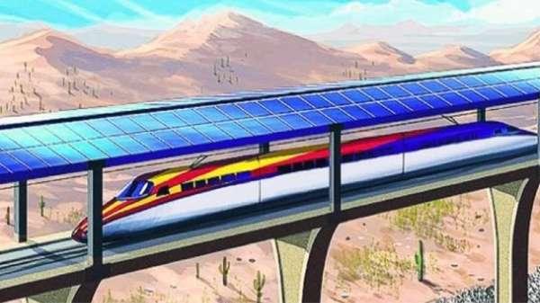 treno fotovoltaico solar bullet