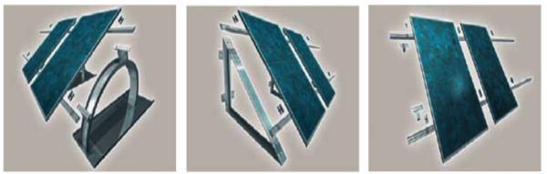 progetto impianto fotovoltaico - strutture di sostegno