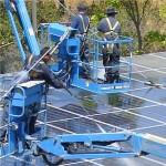 Pulitura dei pannelli fotovoltaici, con SunPower è robotizzata