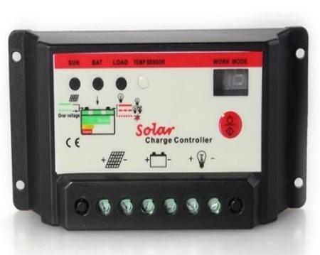 regolatore di carica per pannelli fotovoltaici con batterie