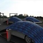 Guscio fotovoltaico V-tent: ricarica l' auto al parcheggio