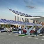 Pensilina fotovoltaica made in Italy presentata a Dubai