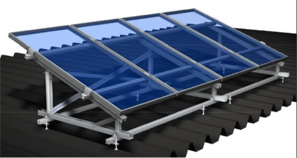 fissaggio dei pannelli fotovoltaici su tetto piano senza zavorra