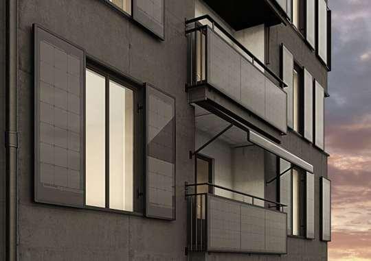 fotovoltaico su balconi tende e finestre