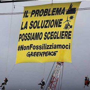 campagna greenpeace nonfissilizziamoci a la spezia