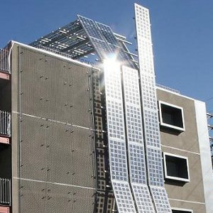 moduli fotovoltaici trasparenti vetro vetro - immagine non rappresentativa
