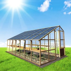 serra fotovoltaica domestica