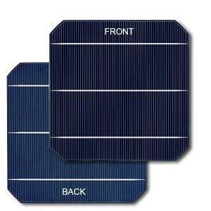 cella fotovoltaica bifacciale