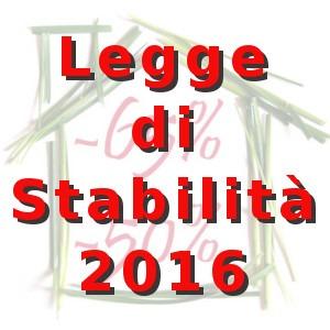 Legge stabilità 2016 approvata, ecco le novità
